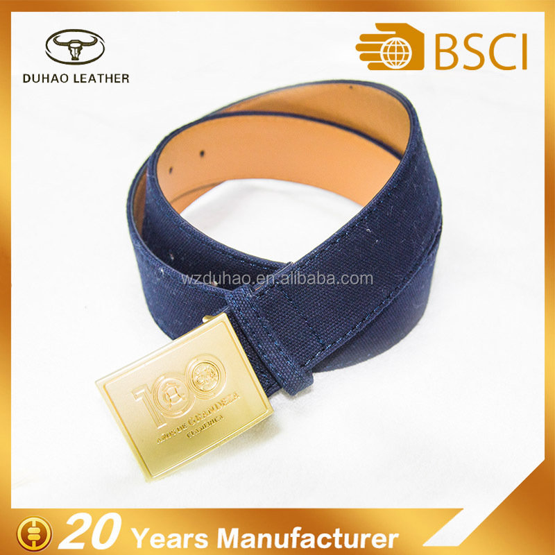 Custom fashion canvas cotton jeans belt for man
