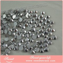 Wholesale non hot fix flat back nail crystals rhinestones