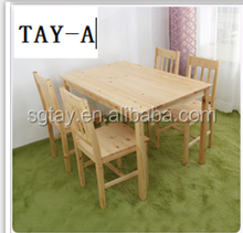 modern and cheap dining table and four chairs