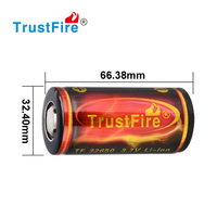 Trustfire 32650 portable rechargeable high voltage 6000mah 3.7v li battery