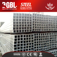 lightweight Chinese cheap roofing materials hollow structure 25mm*25mm galvanized steel square tube