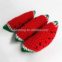 wholesale Photography studio props wool knitting toys children's fruit and vegetable simulation baby photography props