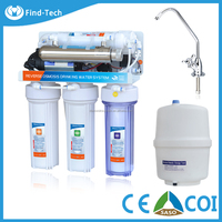 6 stages home use water filter plan with UV lamp