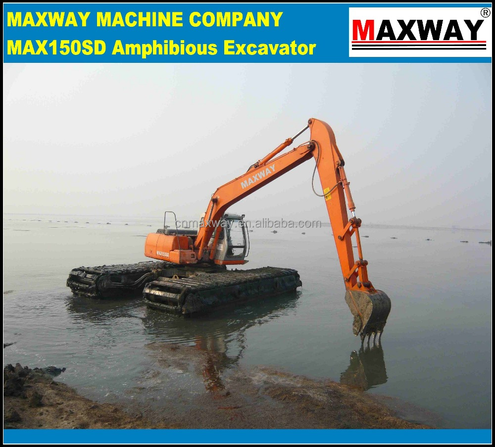 CE / ISO Approved , High Quality Cheap 20Ton Compact Deep Water Excavator for sale , ISUZU engine, Model: MAX150SD