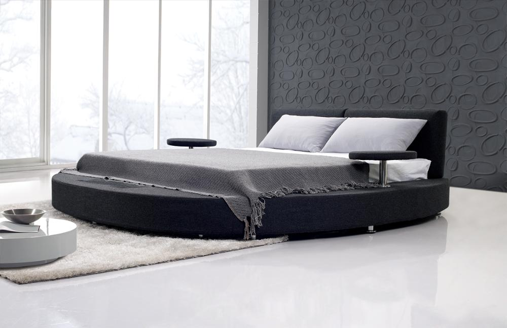 Hot sale high quality bedroom furniture round beds for for High beds for sale