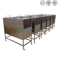 YSVET8105 longer using-life high quality dog hospital stainless steel portable pet cage