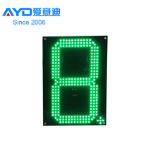 High Bright REGULAR Green Single Digit 7 Segment Electronics Scoreboard Wireless Gas Station LED Price Sign LED Open Sign24 Inch