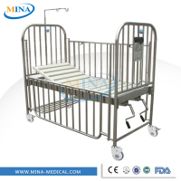 MINA-BB11 Hot sell and movable pediatric home hospital bed dimensions,hospital bed for children