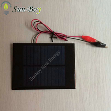 6V 150mA Mini Epoxy Solar Panel with Wires and Alligator Clips