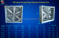 HS series new design axial flow hammer fan(farm, greenhouse,industry) fan for the industry