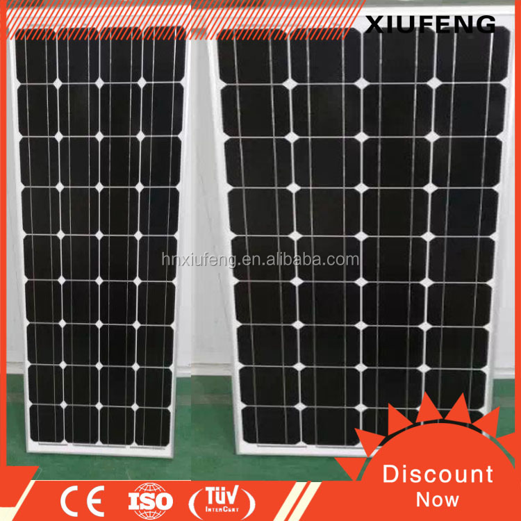 China manufacturer of TUV/IEC certificated Mono solar panels 150w 18v for sale