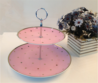 Factory wholesale pink color cake stand