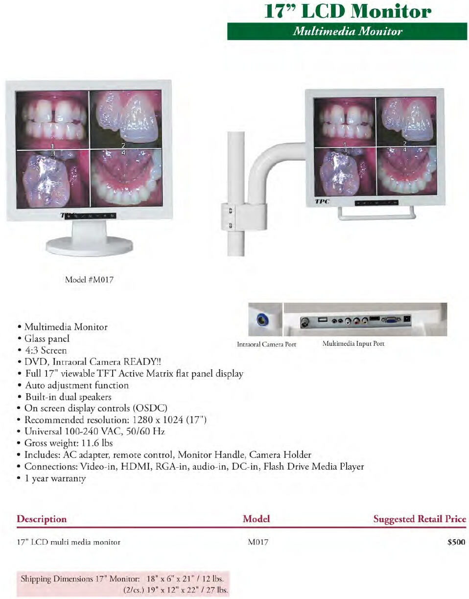 Adjustable LCD Dental Monitor Bracket Extension Arm