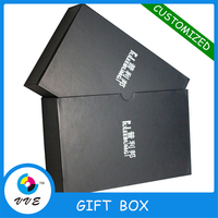 Hot Sale Paper Packaging Box Custom Logo Printed Recycled printing Black Matt Paper Gift Box for Essential oil