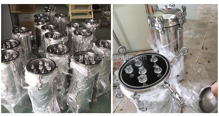 Stainless Steel water filter housing for chemical liquid and water treatment