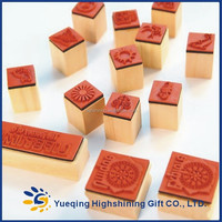 Custom design DIY craft rubber educational Wooden Stamp