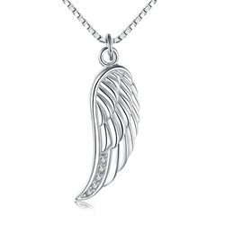 Accessories for Jewelry Wholesale China Women Neck Findings Silver Angel Wings Necklace Pendant Alibaba Express Jewelry