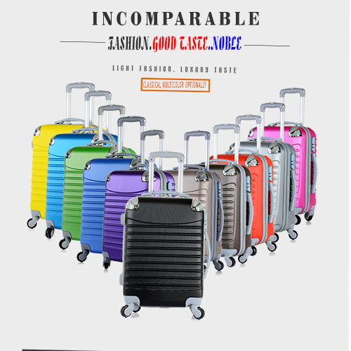 2015 hard abs pc trolley luggage suitcase 4 wheels abs trolley case/luggage