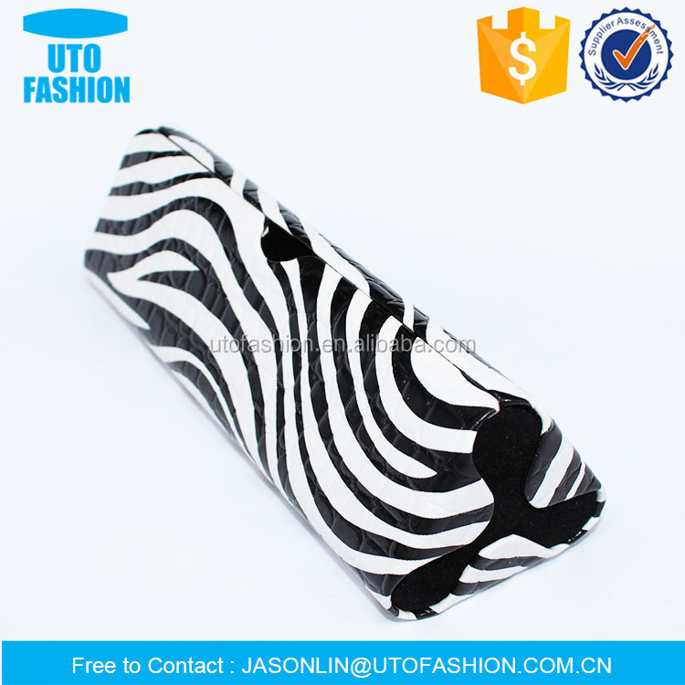 YT4125 unique exclusive style zebra-stripe luxurious optical spectacle case