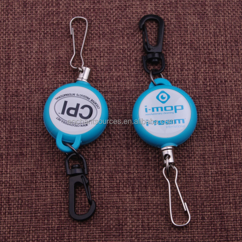 Customize logo print yoyo key chain with bungee cord