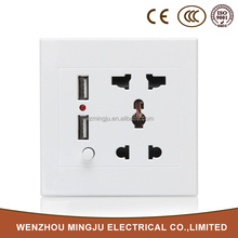Looking For Agents To Distribute Our Products White Double Usb Wall Socket