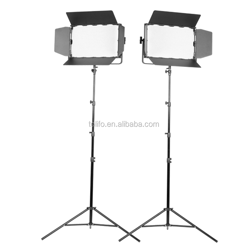 Tolifo 2400 professional dimmer bi color video shooting led light kit with DMX LED display remote control for broadcasting TV