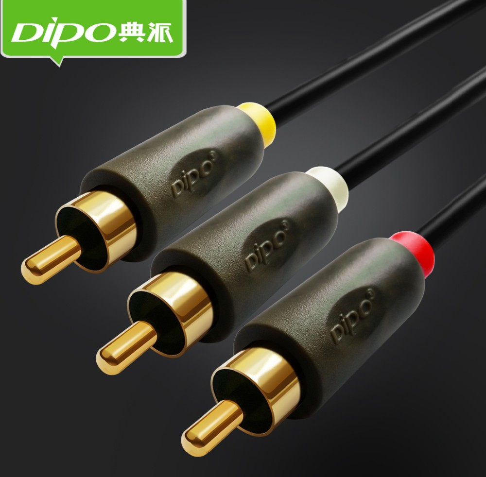 high quality 3rca to 3rca black av rca audio video cable