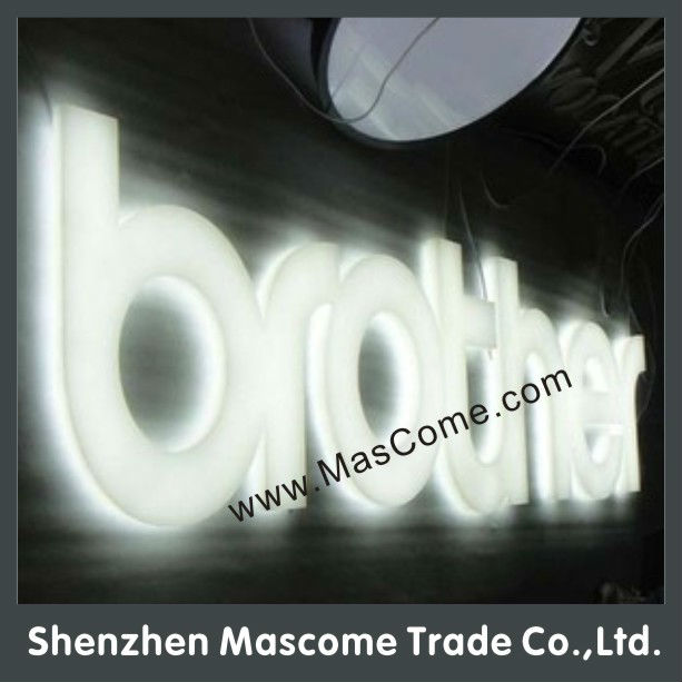 All-Side Lighted Acrylic Crystal Transparent Slogan English Words 3d LED Box Sign Letters
