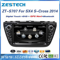 car video for Suzuki SX4 S-Cross 2014 car video with dvd gps mp3 player 1080P ZT-S707