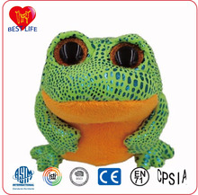 (PTAL0816319) big eyes green frog plush animal toys stuffed frog toy