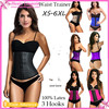 Wholesale 2016 Latex Zipper Black Fitness Corset for Women