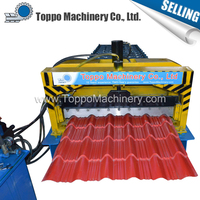 Panel Glazed Tile Roll Forming Machine For Steel Construction