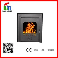 Insert wood and charcoal buring cheap european style steel fireplace for sale WM-SBI-500
