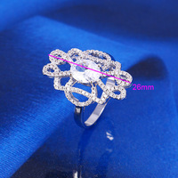 11914-2016 China Wholesale Charms Xuping Generous jewelry Rhodium color Woman Ring