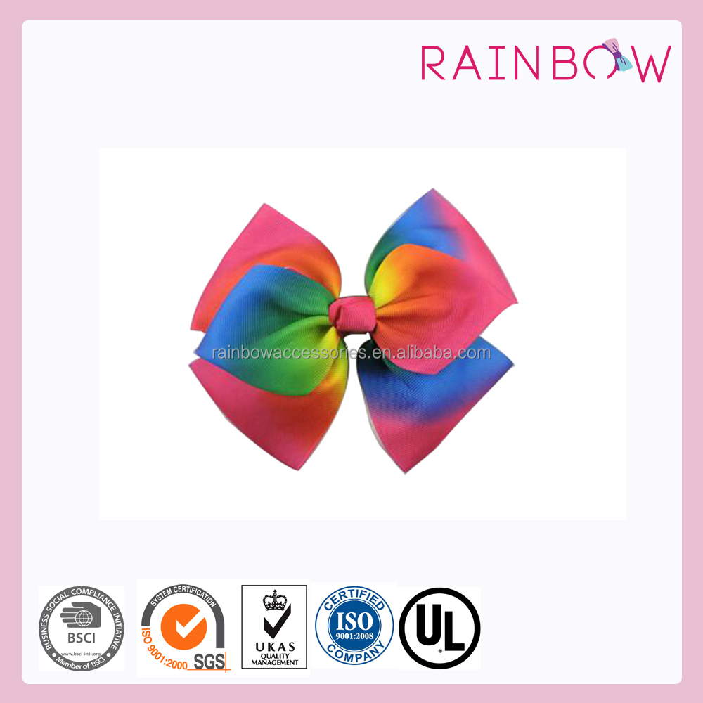 Gradient JoJo Bow Clip rainbow baby metal hair clips for sales hair accessories
