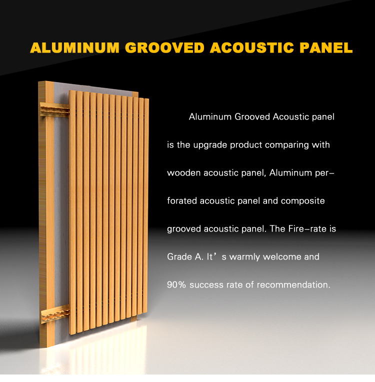 Interior ceiling aluminum decorative acoustic panel