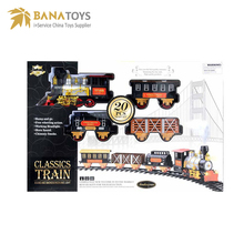 Electric realistic railway toys model train with smoke