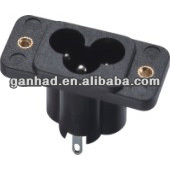 IEC C6 male and female industrial plug and socket