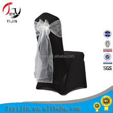 2015 new design disposable folding spandex chair covers