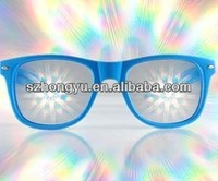 Fancy Christmas eyeglass novelty eyewear diffraction glasses rave party glasses