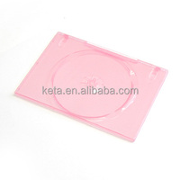 Single Disc 7MM Glossy Pink Color Plastic Long DVD Case