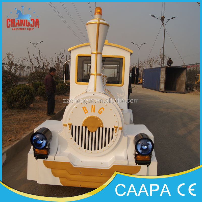 2016 Attractions tourist road train used trackless train for sale