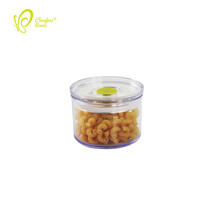 BPA Free 450ml Food Fresher Use Airtight Plastic Round food Canister With Lid
