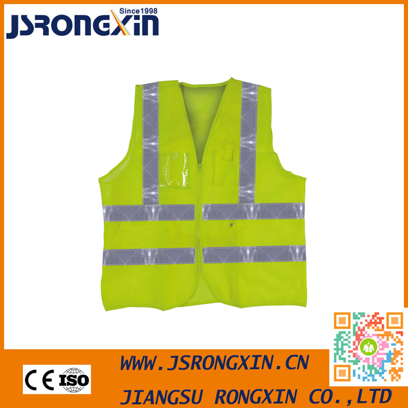 Economical Printed Hi Vis Vest With Pockets