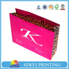 Luxury outside and inside full color printed boutique shopping bags