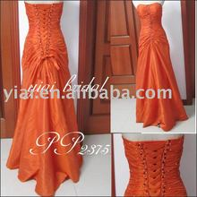 PP2375 Orange Turquoise Prom Dress Long Sexy Prom Dress Evening Dress