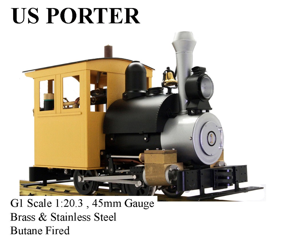 Porter ,1:20.3 Live Steam Locomotive (Brass made)