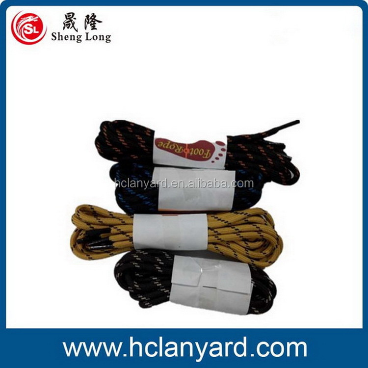 Top level new coming round colored elastic lock shoelaces
