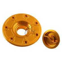 CNC Billet Fuel Gas Cap For Kawasaki ZXR250 ZXR400 ZXR750 EX 250 ZZR250 Gold
