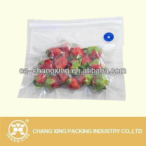 Custom high quality plastic side gusset realable food vacuum bag